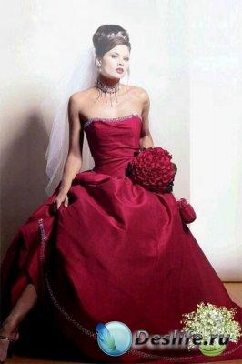 Женский костюм для фотошопа - В роскошном платье