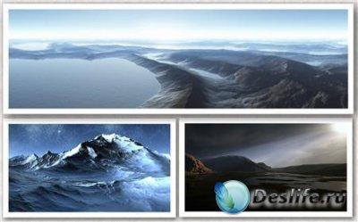 20 Dual Screen 3D Landscapes (Обои для рабочего стола) Wallpapers