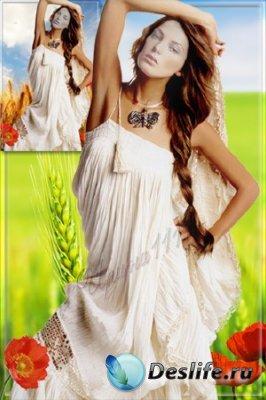 Женский костюм для фотошопа - Русская красавица