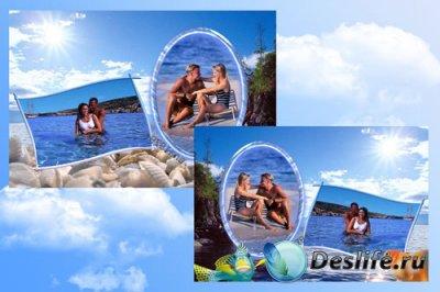 Рамка для фотошопа - Море и солнце