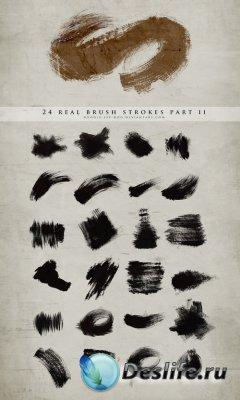 Real brush strokes part II - Кисти для Фотошопа