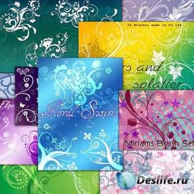Кисти для фотошопа - цветочные водовороты