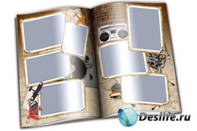 Парные рамки для фотошопа - Ретро