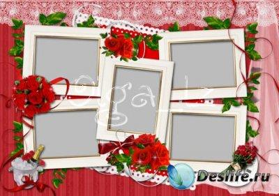 Рамка для фотошопа - Красные розы