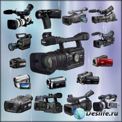 Клипарт для фотошопа - Видеокамеры