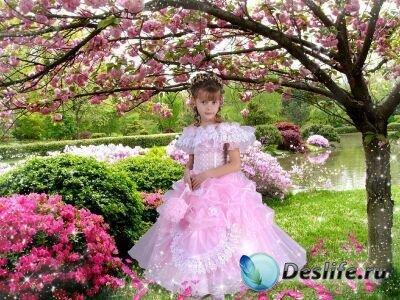 Костюм для фотошопа - Девочка-Весна