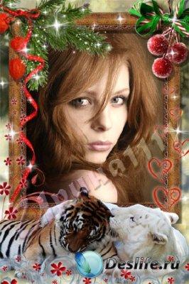 Рамка для фотошопа - С любовью в год тигра