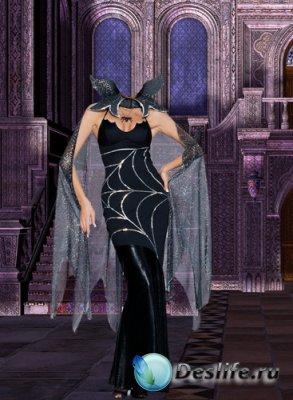 Женский костюм для фотошопа - Хозяйка замка