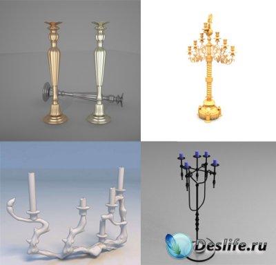 3D модели подсвечников и канделябров