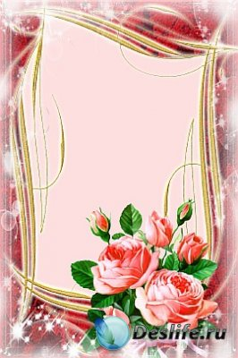 Рамка для фотошопа - Букет роз