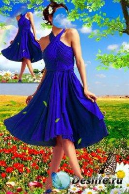 Женский костюм для фотошопа - Девушка-лето