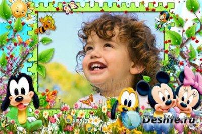 Детская рамка для фотошопа - Малыши