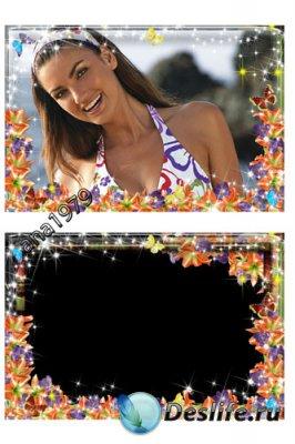 Рамка для фотошопа - Лилии
