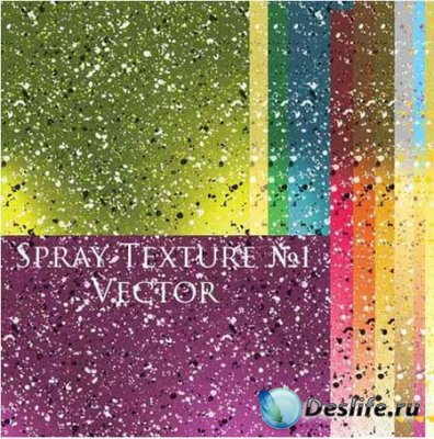 Фоны для фотошопа - Spray Texture #1 Vector