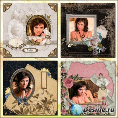 Четыре скрап-рамки для фотошопа