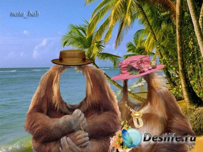 Костюм для фотошопа - Медовый месяц на Гавайях