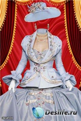 Женский костюм для фотошоп – Стильная дама