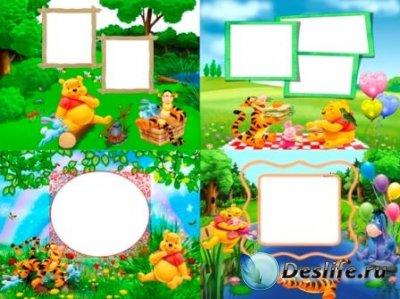 Рамки для фотошопа - Винни Пух и друзья