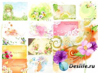 PSD исходники для фотошопа - Water Colour Dravings
