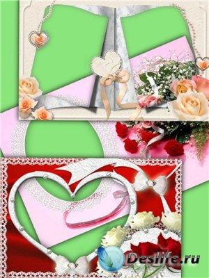 Набор рамочек для фотошопа – Розы для тебя
