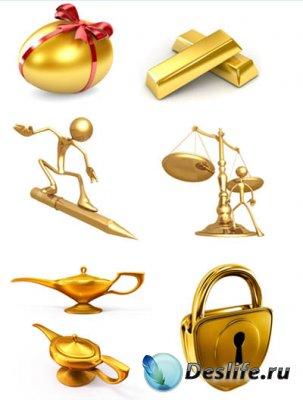 Gold (Золото) - Клипарт