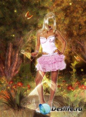 Женский костюм для фотошопа - Фея