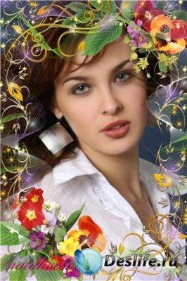 Рамка для фотошопа – Цветочное настроение