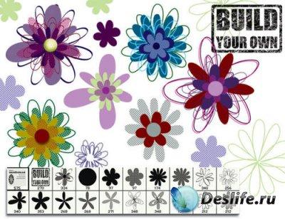 Кисти для фотошопа - Build flowers
