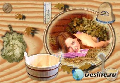 Рамка для фотошопа - Русская баня