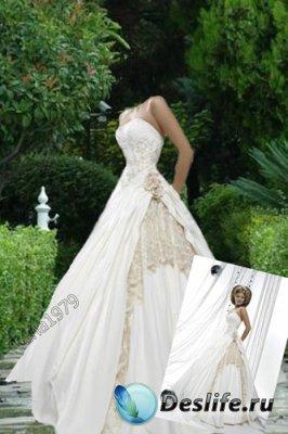 Костюм для фотошопа - Дама в белом