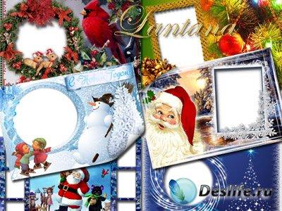 Коллекция новогодних рамочек для фотошопа