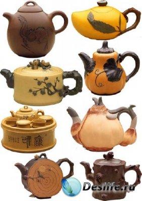 Растровый клипарт - Чайники в Восточном стиле