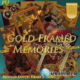 Скрап-набор для фотошопа – Gold Framed Memories