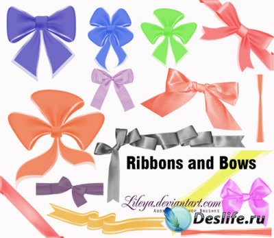 Ribbons and Bows - Кисти для Фотошопа