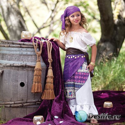 Детский костюм для фотошопа - Юная красавица