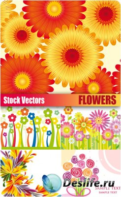 Stock Vectors - Flowers