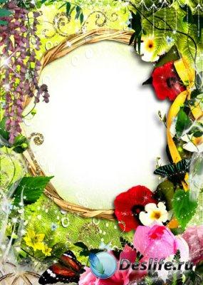 Рамка для фотошопа - Цветочное искушение