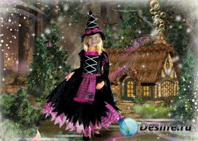 Детский костюм для фотошопа – Маленькая волшебница