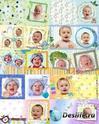 Набор детских рамок #2 для Фотошопа