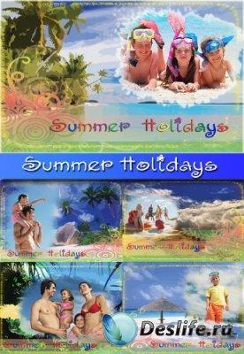 Набор летних рамок для фотошопа - Summer Holidays
