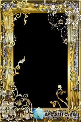 Рамка для фотомонтажа - Золотая