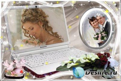 Рамка для фотомонтажа - Фото на компьютере