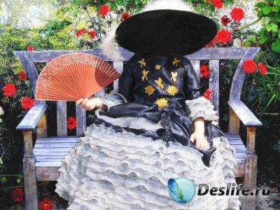 Костюм для фотошопа – Девочка на скамейке