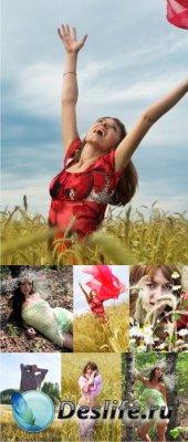Stock Photos - Девушки | Летние эмоции