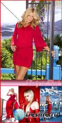 Stock photo - Lady in Red / Леди в красном