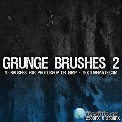 Grunge Brushes 2 for Photoshop - Кисти для Фотошопа
