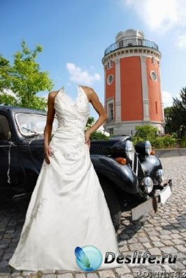 Костюм для фотошопа - Невеста и авто
