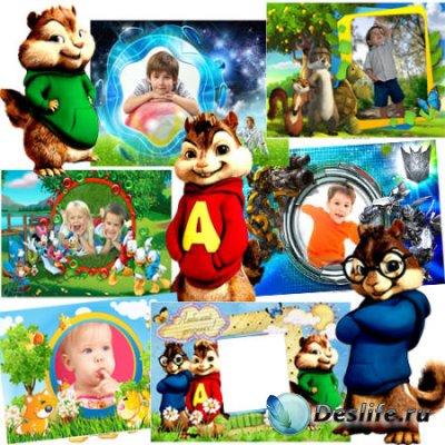 Красивые  детские рамки для фотографий