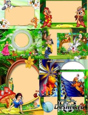 Рамки для фотошопа детские - Встреча со сказкой