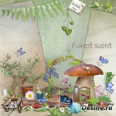 Скрап-набор - (Лесной аромат) Forest scent